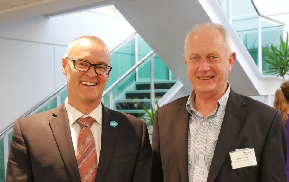 Hon Dr David Clark Minister of Health and Peter Brown Director Employment Relations TAS6